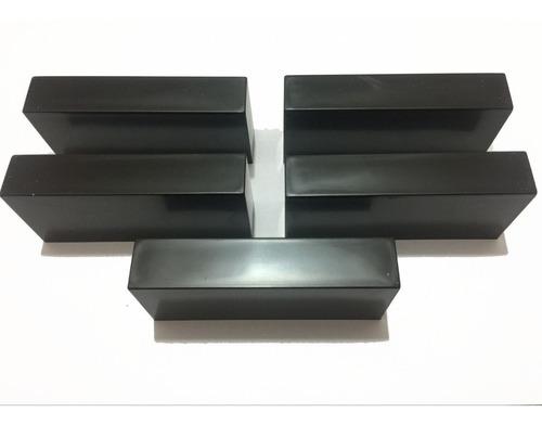 5 goleiros de plástico pretos - futebol de mesa