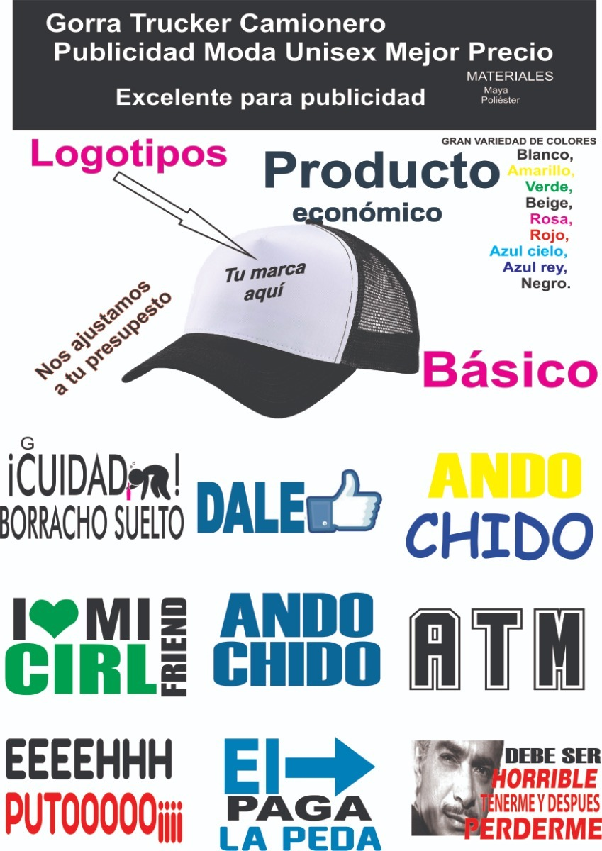 5 Gorras Personalizada -   175.00 en Mercado Libre 2c0fe157f3c