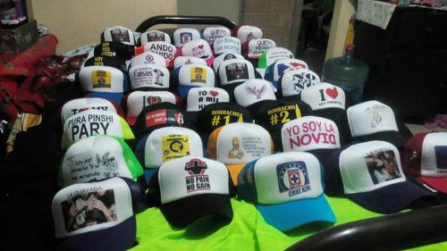 5 gorras personalizadas frases, logos envío gratis.
