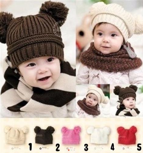 5 gorro gorra  beanie tejidos para bebés y niños calientitos