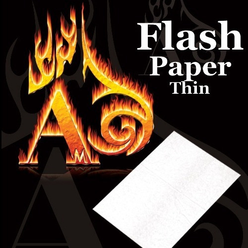5 hojas papel flash color blanco / alberico magic
