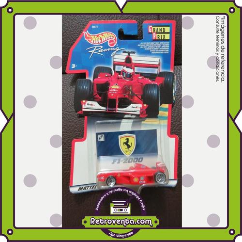 5 hot wheels grand prix racing series 2000- empaque original