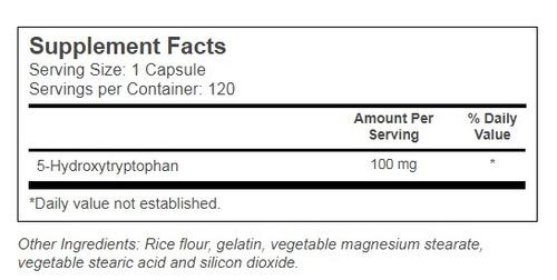 5-htp 100mg - 120 cápsulas importado