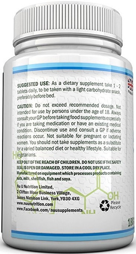 5 htp concentrada 200 mg 180 pastillas - importada sellada