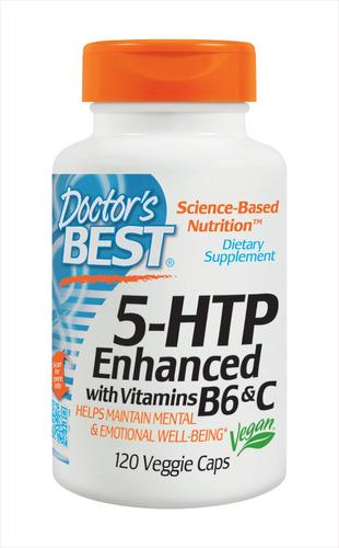 5-htp doctor best 100mg vegetais 120 cáps c/ vit b6 e c