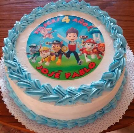 5 impresiones papel de azucar tortas y cupcakes fototortas