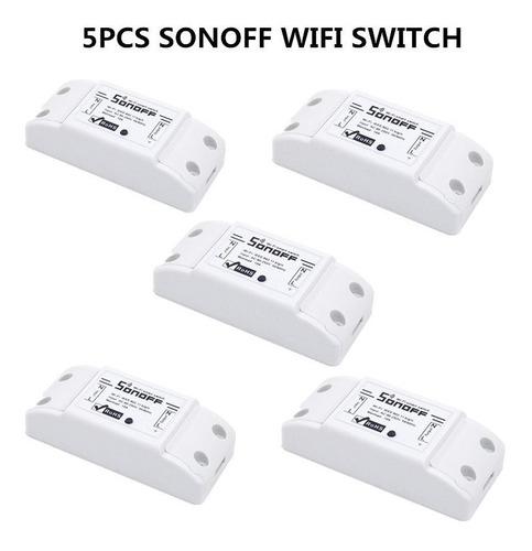 5 itead sonoff interruptor wifi google home alexa automação
