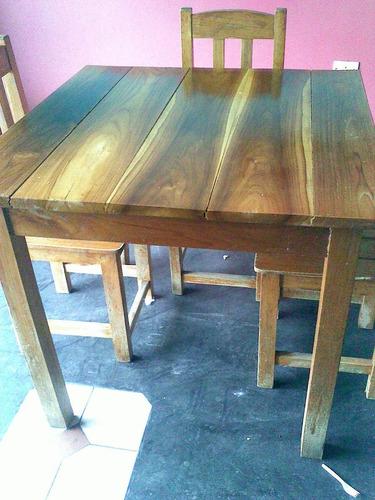 5 juego de comedor madera teca restaurant tasca casa finca