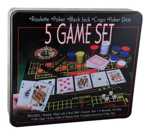 5 juegos casino ruleta poker blackjack poker dados