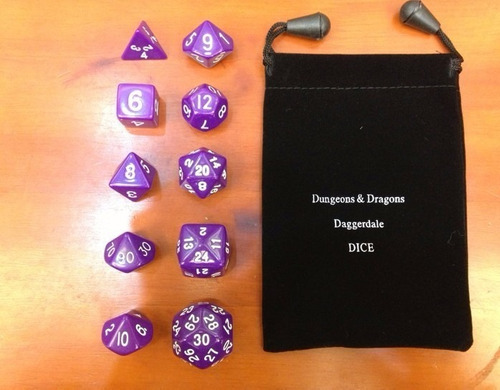 5 kits jogo de dados rpg 10 pçs/kit d&d dragons