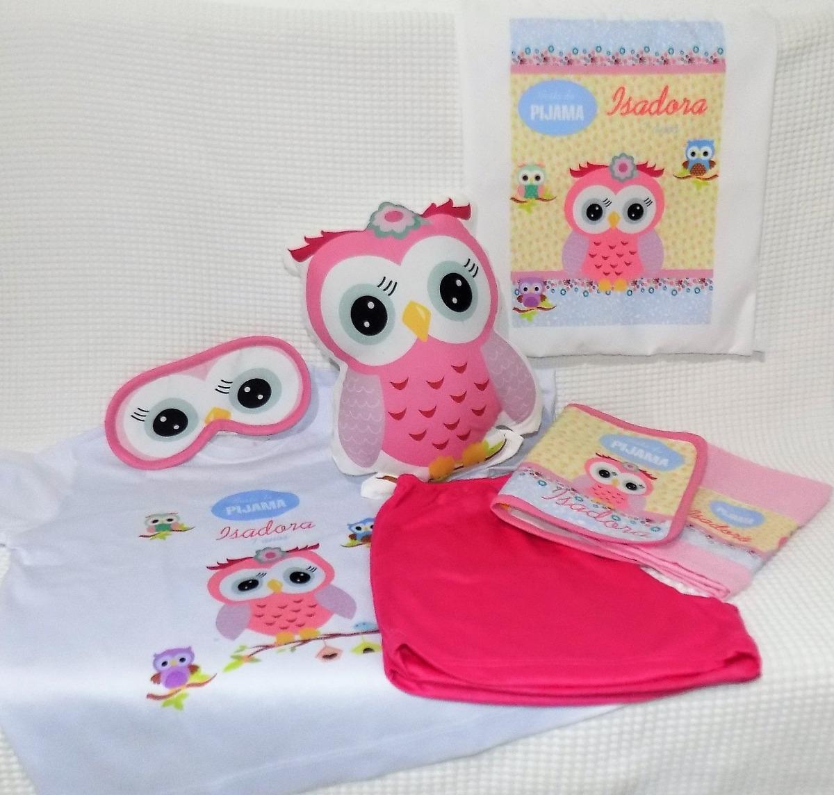 524275932ca761 5 Kits Pijama+neces.+toalha+almofada+bolsa+mascara+chinelo