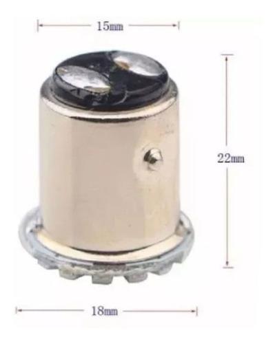5 lampada led automotiva 2 polo informe a cor antes