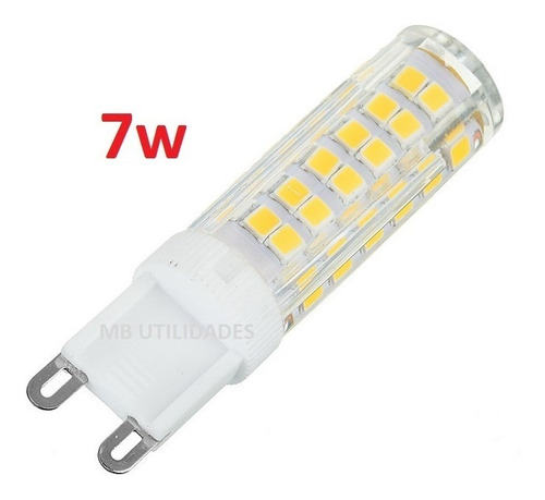 5 lampada led halopin g9 7w branca fria ou quente 110v 220v