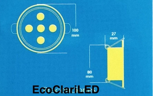 5 lamparas led 3 watts para bote integral o plafon 8 cm