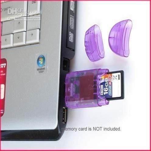 5 leitores gravador cartão memória sd/mmc usb 2.0