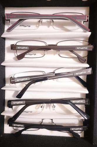 5 lentes - armazones marca grypho - lentes en mayoreo