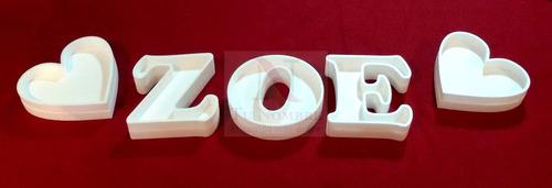 5 letras huecas más 1 forma de 20 polyfan