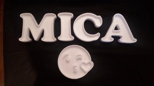 5 letras huecas más 1 forma de 20 polyfan tunombre candy bar