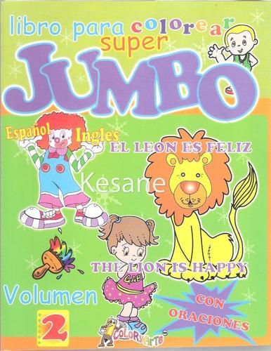 5 libros colorear iluminar jumbo paquete preescolar surtido