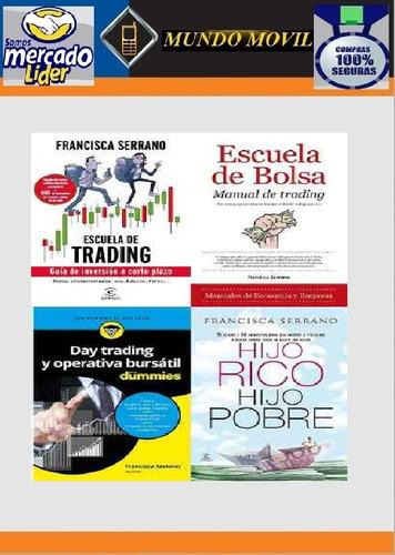 5 libros francisca serrano bolsa trading banca completos