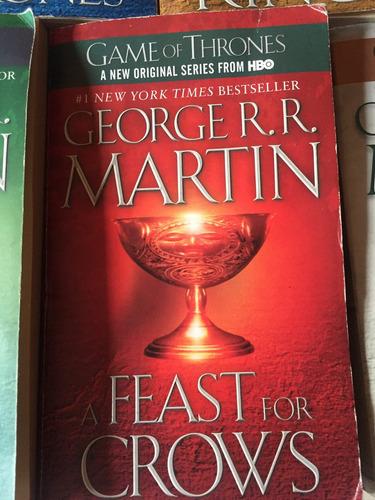 5 libros game of thrones juego de tronos en ingles