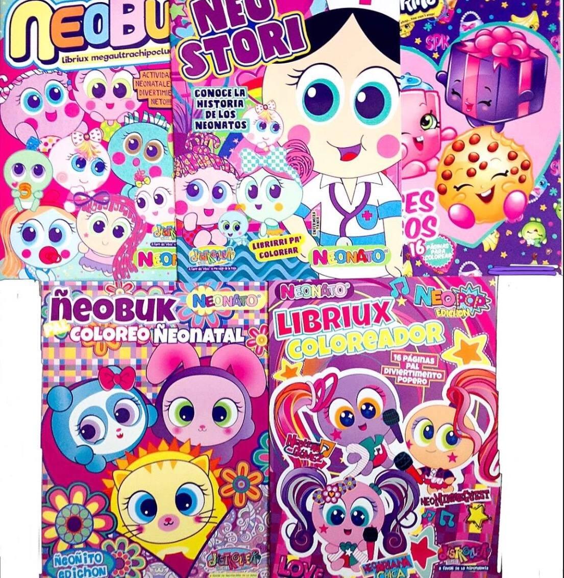 5 Libros Para Colorear Niños Fiesta Piñata - $ 54.00 en Mercado Libre