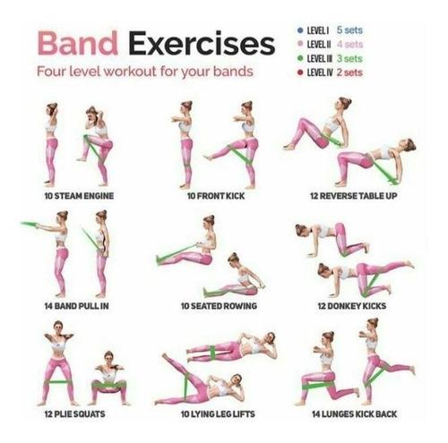 5 ligas resistencia bandas ejercicio gluteos + ebook rutinas