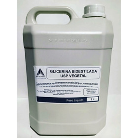 5 Litros Glicerina Bidestilada Usp Vegetal + Laudo E Nf