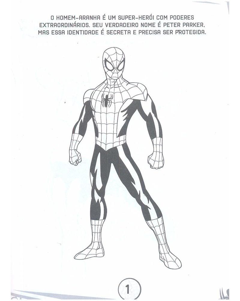 5 Livros Ler E Colorir Marvel Vingadores Giz De Cera R 35 79