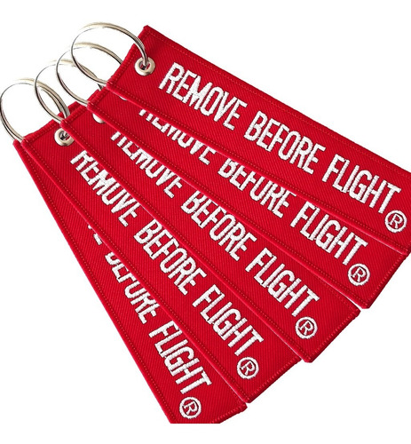 5 llaveros  remove before flight ® combo