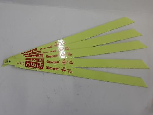 5 lâminas p/serra sabre starrett king cut  br121014