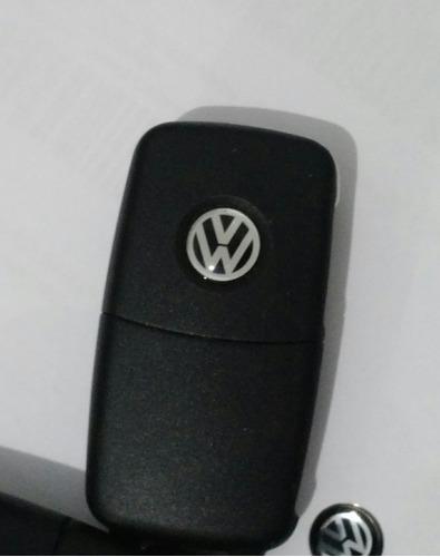 5 logos da chave canivete da volkswagen em aluminio de 11mm