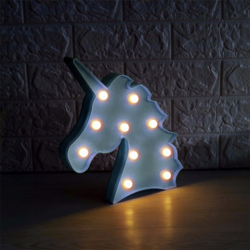 5 luminária abajur unicórnio c/ luz led mesa e parede