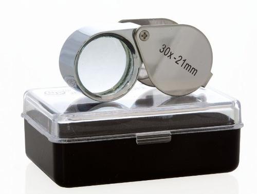 5 lupas joyero relojero de 30x21mm. con cubierta metalica