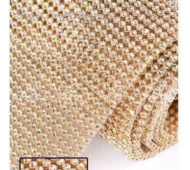 5 manta de strass cristal silicone 10cmx45cm