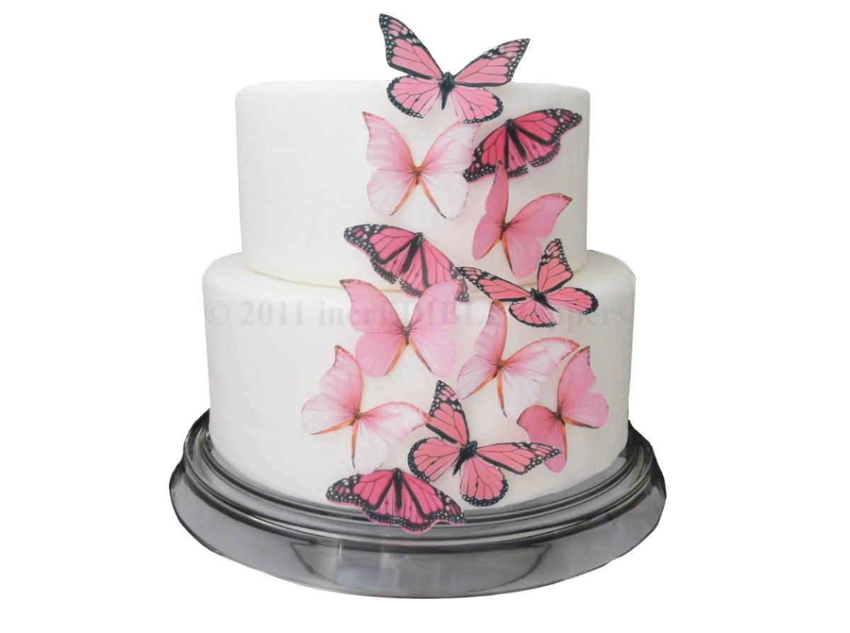 wedding cake edible decorations 5 mariposas comestibles obleas decoracion cupcakes 8636