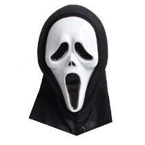 5 máscara pânico com capuz fantasia halloween