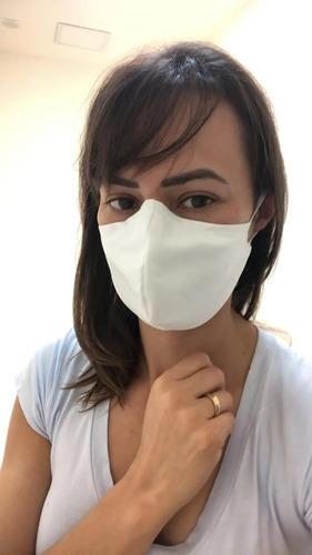 5 máscaras de proteção tecido duplo clipe nasal reutilizável