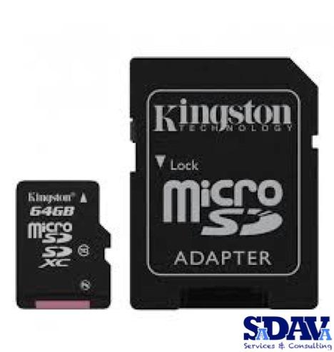 5 memorias microsdxc uhs-i kingston clase 10 64gb