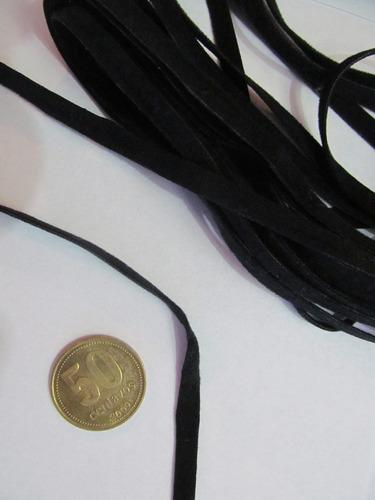 5 metros de cinta de antilope negra para collar chocker 6mm