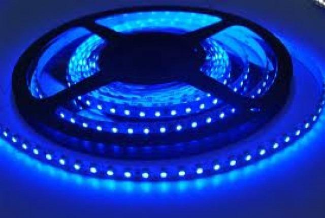 5 metros tira led azul 60led m p interior cinta adhesiva - Tira led 5 metros ...