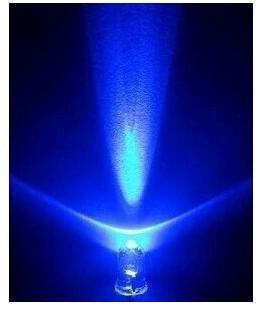 5 mm color azul led diodo emisor de luz/f5mm led azul