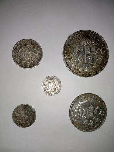 5 monedas antiguas peru