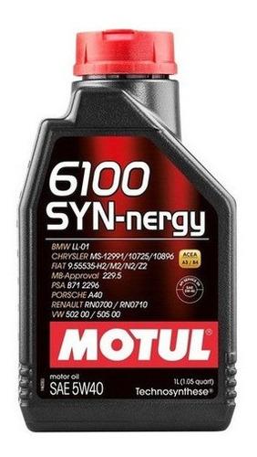 5 óleo motul 6100 motor syn-nergy 5w40 sintético