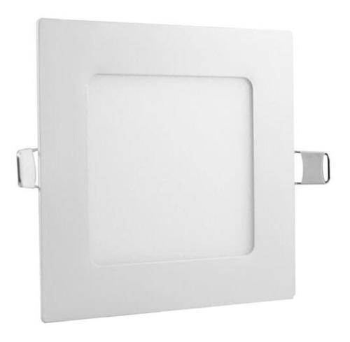 5 painel plafon luminaria led quadrado 6500k ultra slim 18w