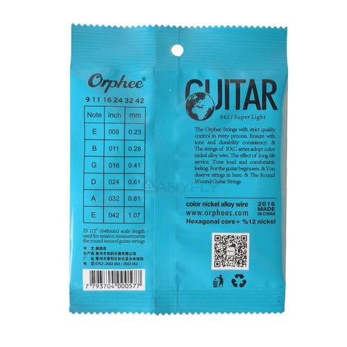 5 pak cuerdas guitarra electrica  orphee 09-42 envio gratis
