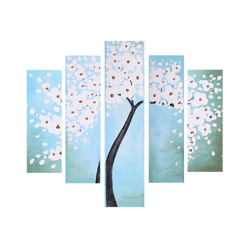 5-panel Impermeable 3d Sin Marco A Mano - Aceite Pintado - $ 15.482 ...