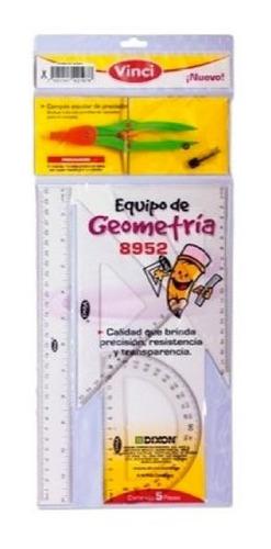 5 paquetes de equipo de geometría vinci 8952