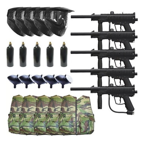 5 paquetes swat outkast para campo gotcha paintball pistola