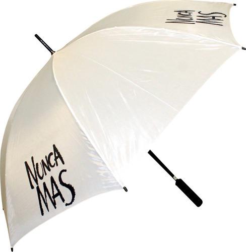 5 paraguas gigantes con logo estampado full color en 4 gajos